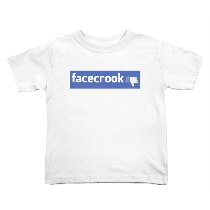 FACECROOK Kids Toddler T-Shirt by WISE FINGER LAB