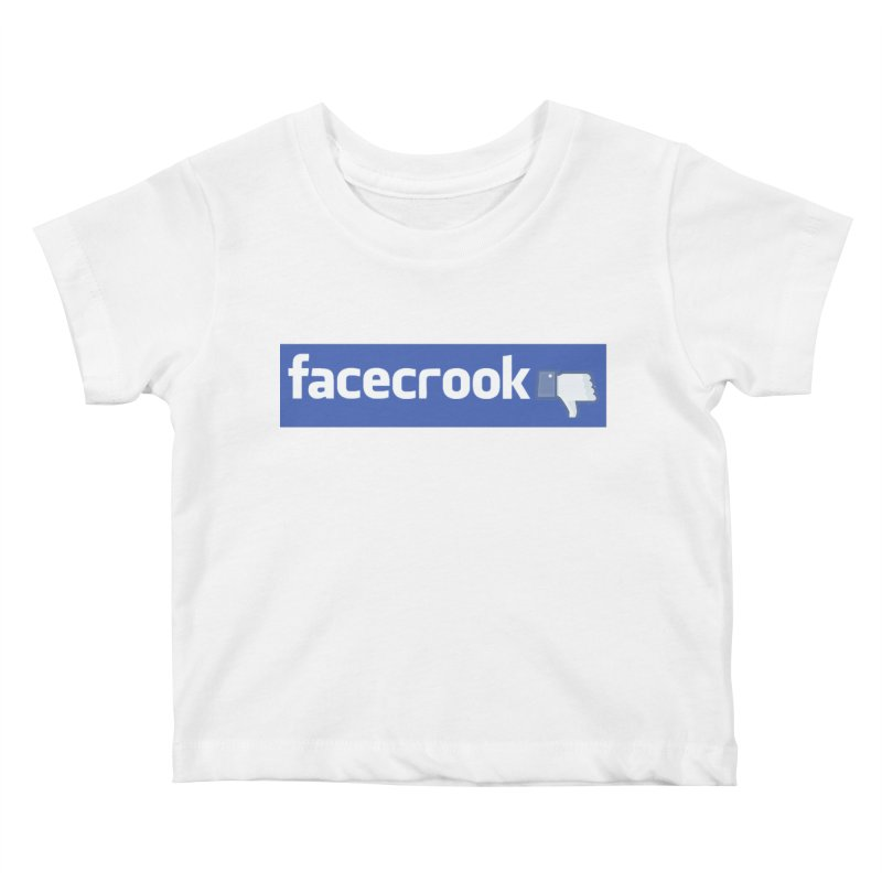 FACECROOK Kids Baby T-Shirt by WISE FINGER LAB