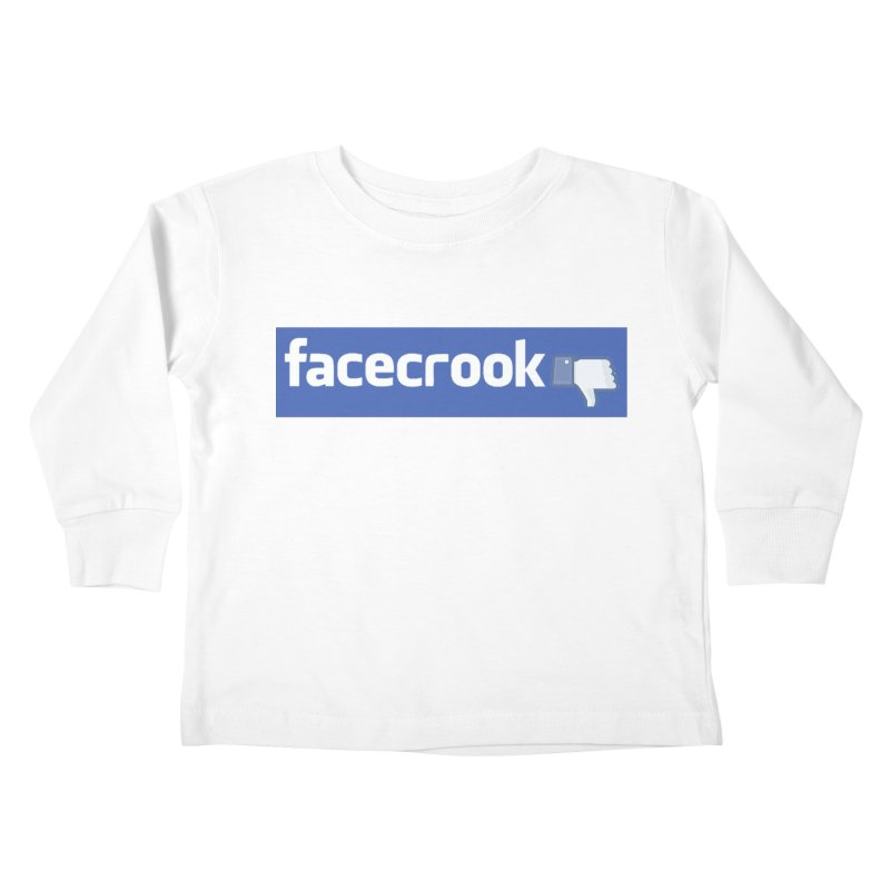 FACECROOK Kids Toddler Longsleeve T-Shirt by WISE FINGER LAB