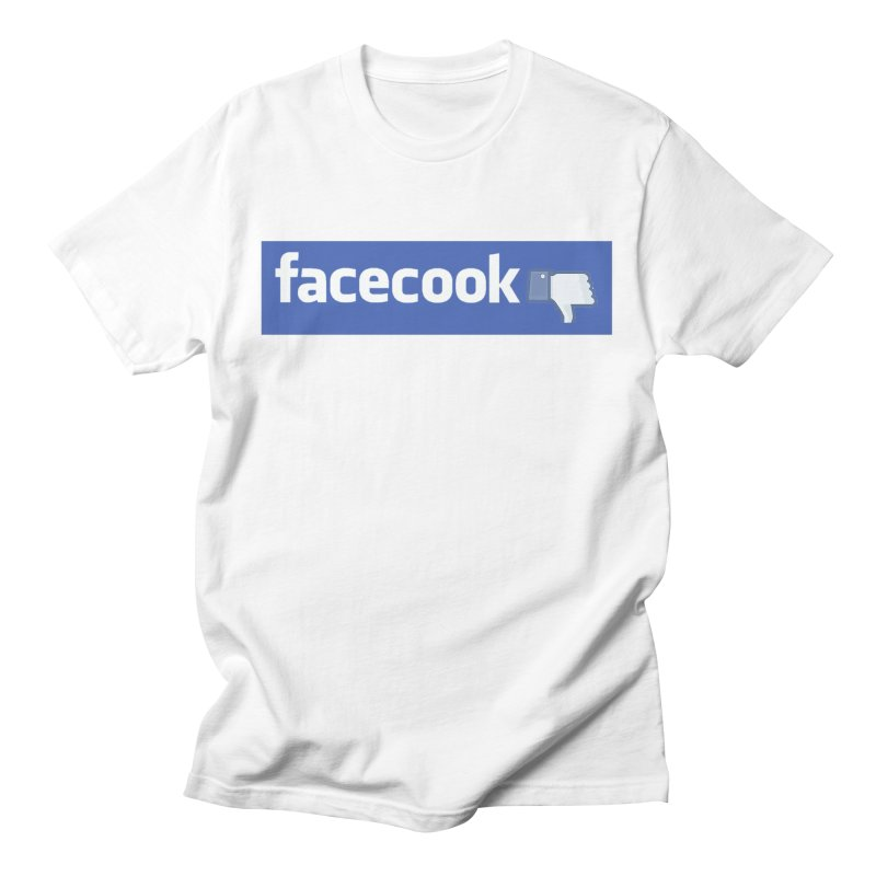 FACECOOK Men's T-Shirt by WISE FINGER LAB