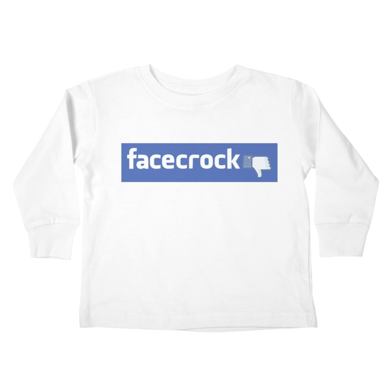 FACECROCK Kids Toddler Longsleeve T-Shirt by WISE FINGER LAB