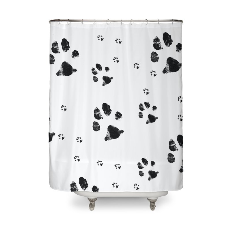 PAW PATH - DALMATIAN Home Shower Curtain by WISE FINGER LAB