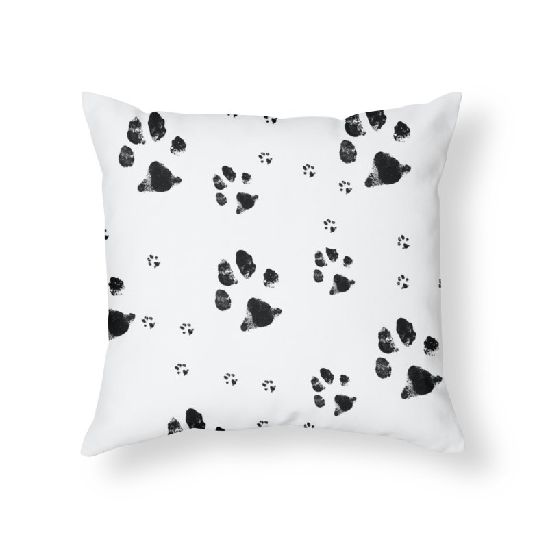 PAW PATH - DALMATIAN Home Throw Pillow by WISE FINGER LAB