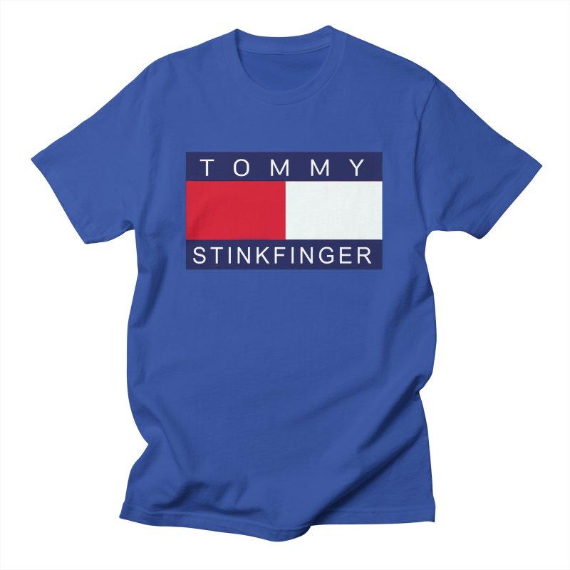 TOMMY STINKFINGER Men's T-Shirt by WISE FINGER LAB