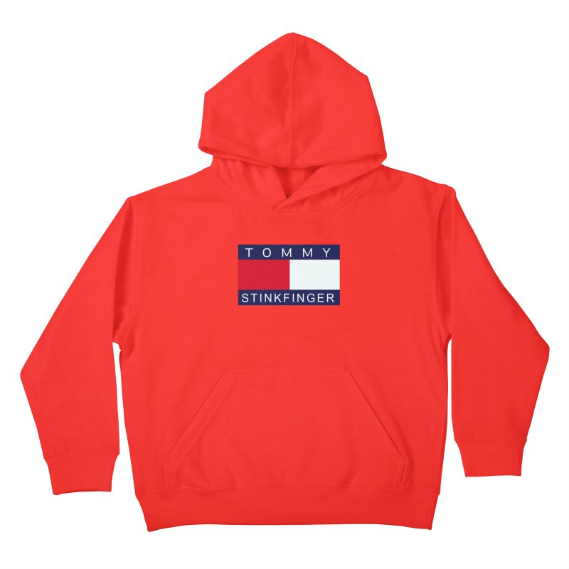 TOMMY STINKFINGER Kids Pullover Hoody by WISE FINGER LAB