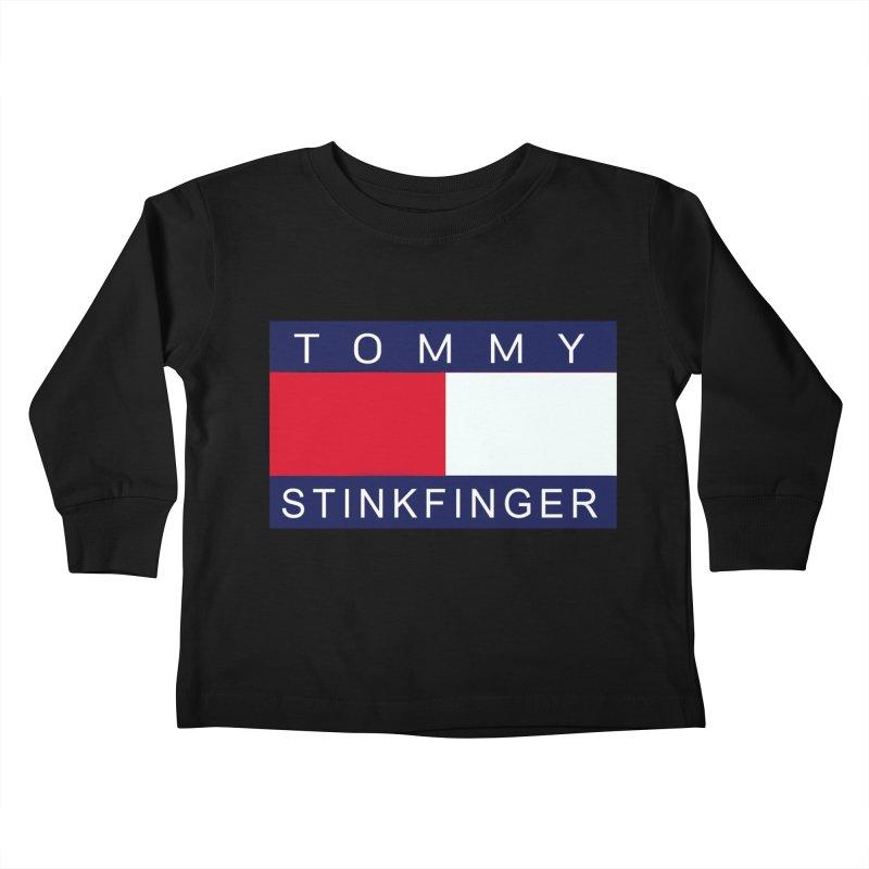 TOMMY STINKFINGER Kids Toddler Longsleeve T-Shirt by WISE FINGER LAB