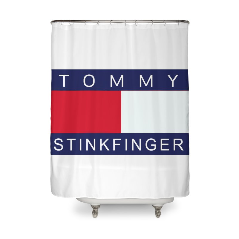TOMMY STINKFINGER Home Shower Curtain by WISE FINGER LAB