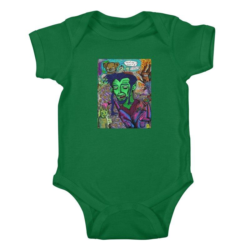 QUARANTINE VAMPIRE Kids Baby Bodysuit by WISE FINGER LAB