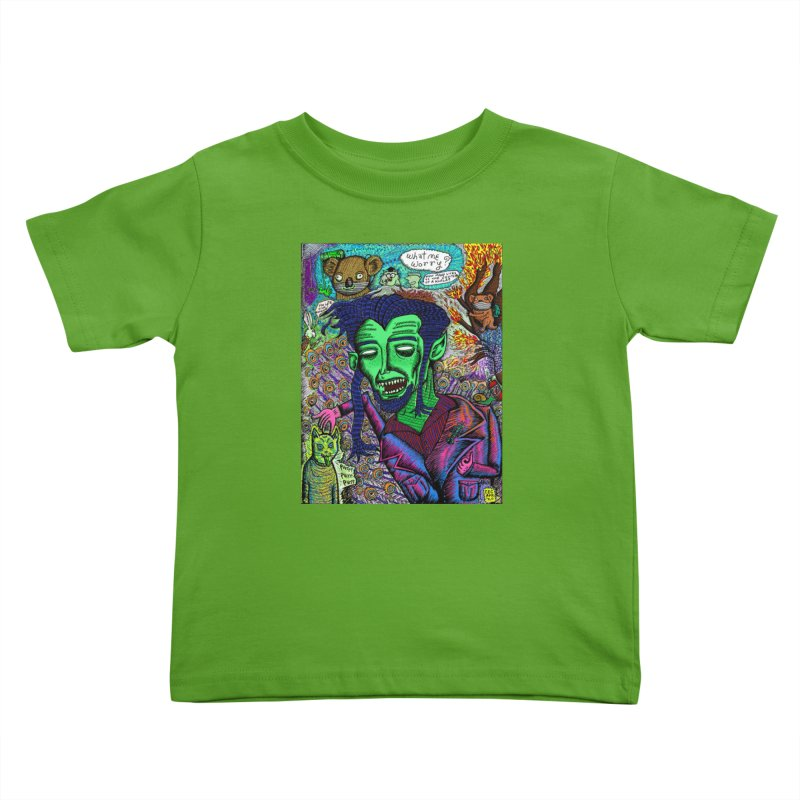 QUARANTINE VAMPIRE Kids Toddler T-Shirt by WISE FINGER LAB