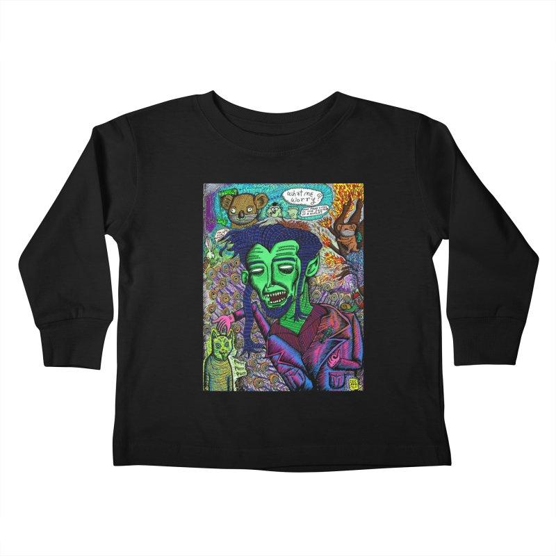 QUARANTINE VAMPIRE Kids Toddler Longsleeve T-Shirt by WISE FINGER LAB