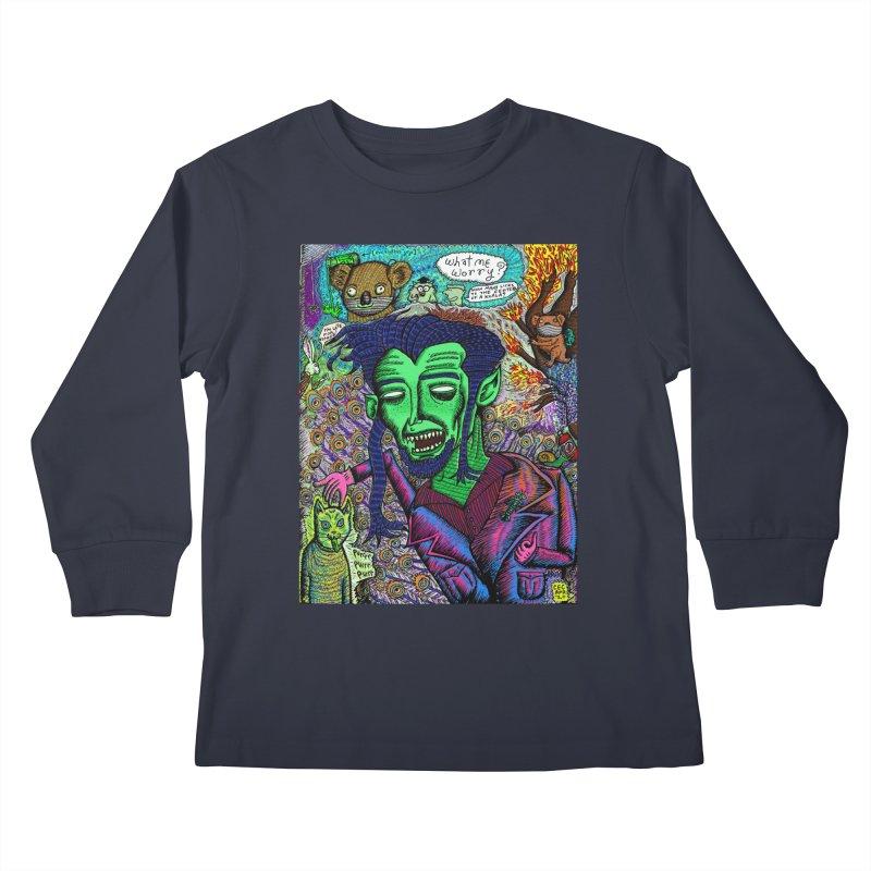 QUARANTINE VAMPIRE Kids Longsleeve T-Shirt by WISE FINGER LAB