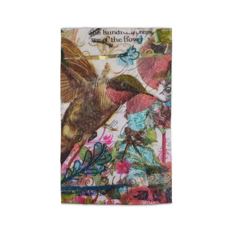 Savor the Moment Hummingbird Original Designer Collage Home Rug by Wise Owl Artworks Artist Shop