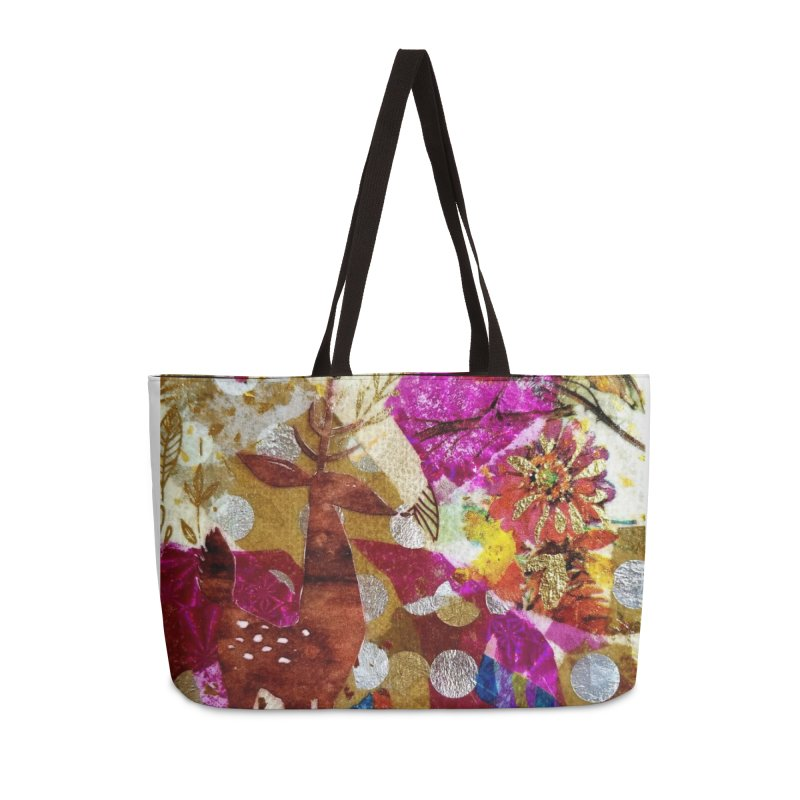 Deer Garden Accessories Weekender Bag Bag by Wise Owl Artworks Artist Shop