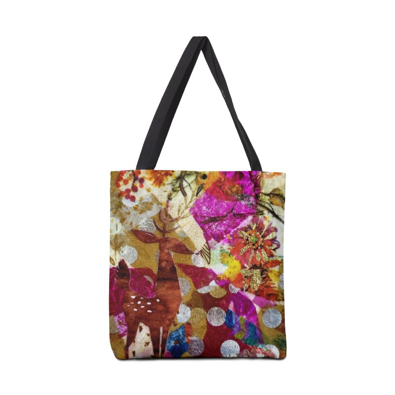 Deer Garden Accessories Tote Bag Bag by Wise Owl Artworks Artist Shop