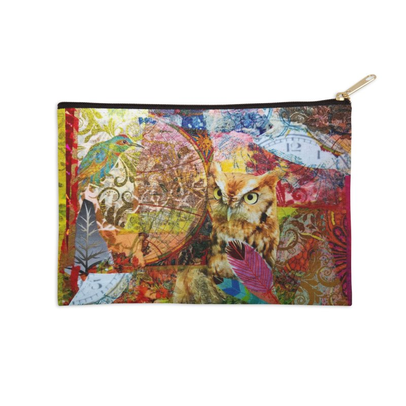 Timeless Owl Accessories Zip Pouch by Wise Owl Artworks Artist Shop