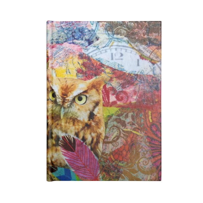 Timeless Owl Accessories Lined Journal Notebook by Wise Owl Artworks Artist Shop