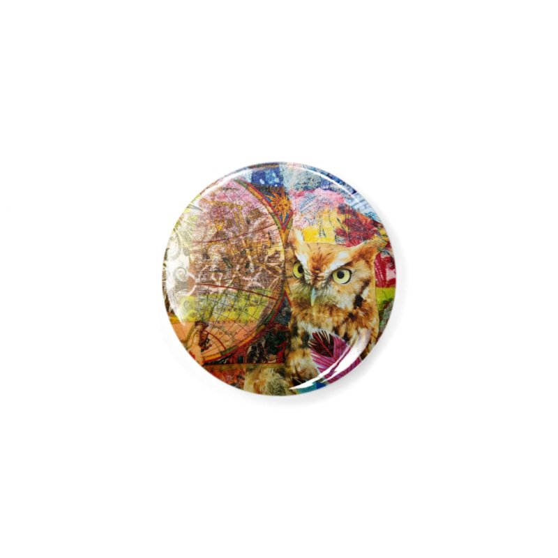 Timeless Owl Accessories Button by Wise Owl Artworks Artist Shop