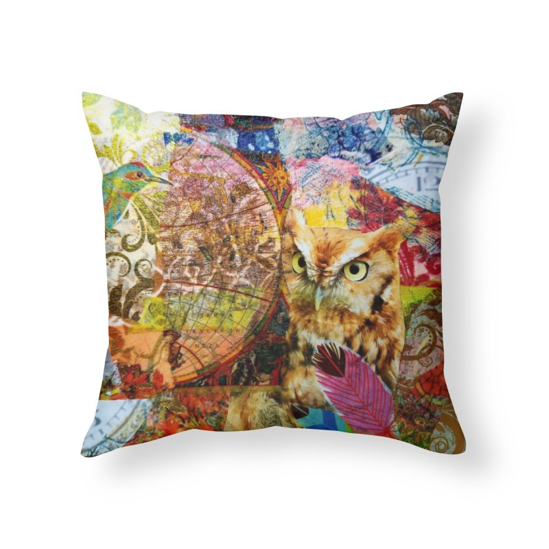 Timeless Owl Home Throw Pillow by Wise Owl Artworks Artist Shop