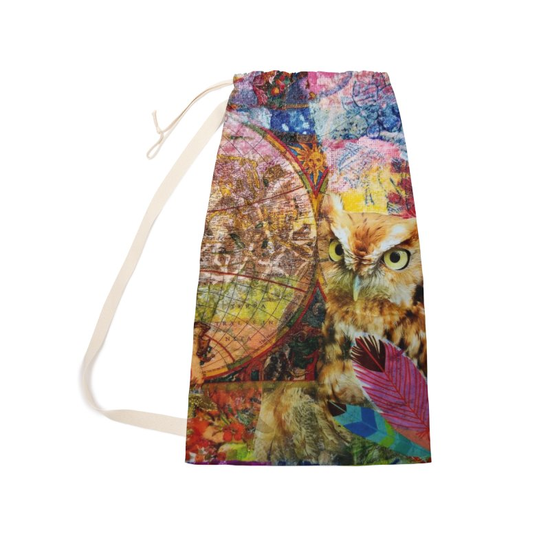 Timeless Owl Accessories Laundry Bag Bag by Wise Owl Artworks Artist Shop