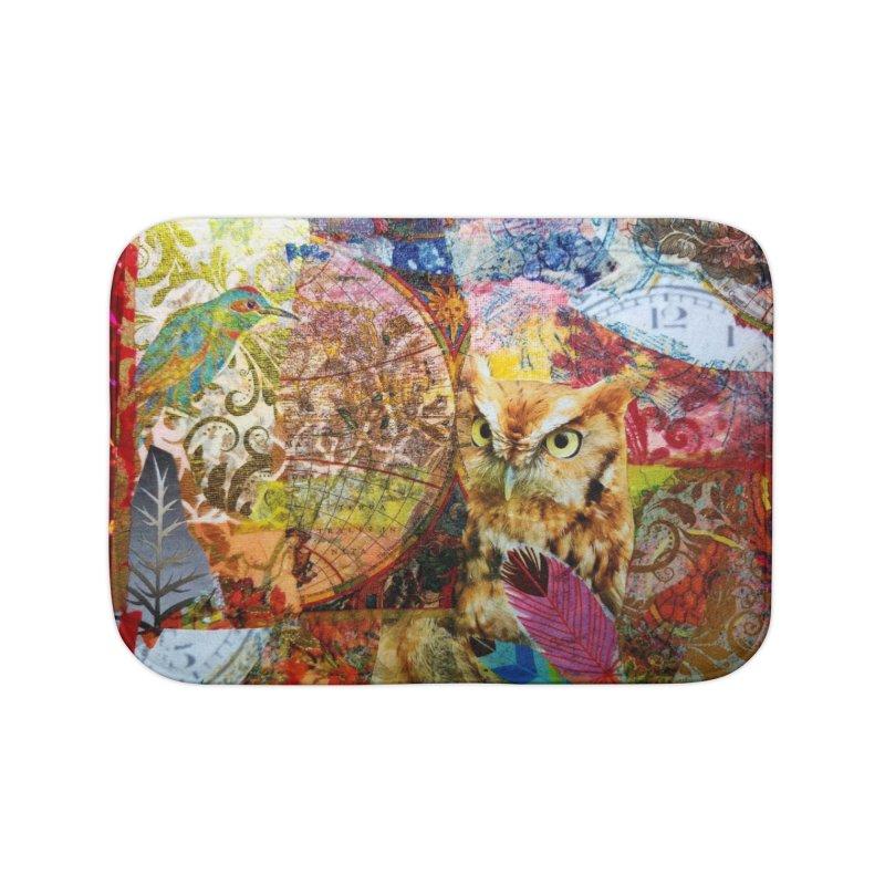 Timeless Owl Home Bath Mat by Wise Owl Artworks Artist Shop