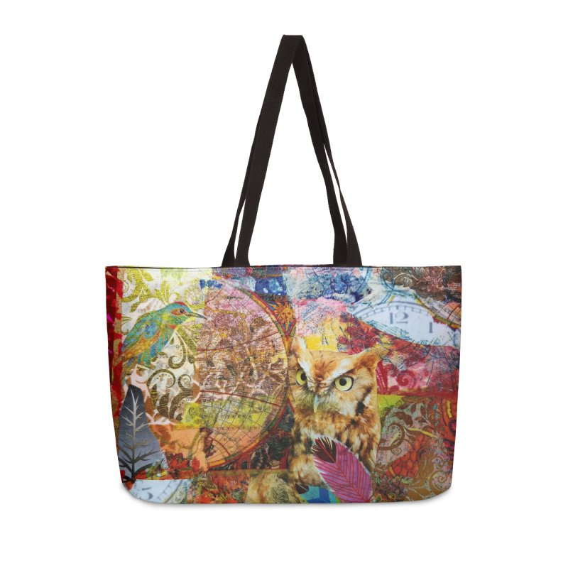 Timeless Owl Accessories Weekender Bag Bag by Wise Owl Artworks Artist Shop