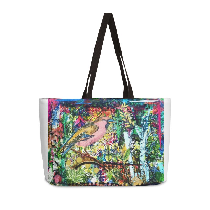 Sitting Pretty Original Collage Design Accessories Weekender Bag Bag by Wise Owl Artworks Artist Shop