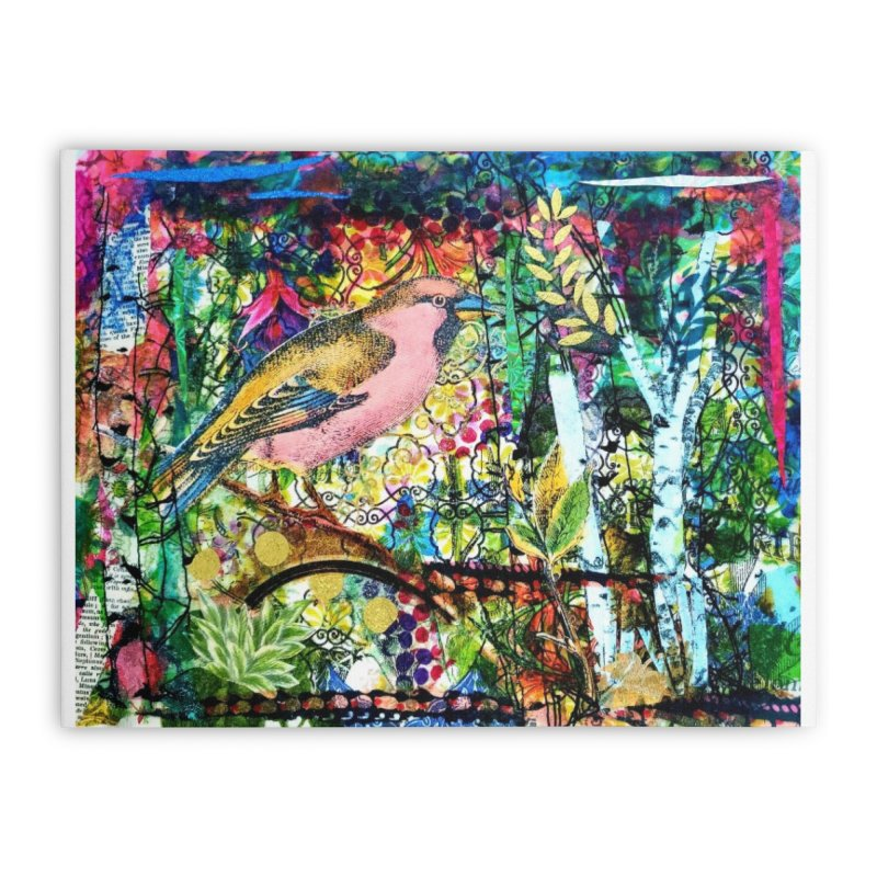 Sitting Pretty Original Collage Design Home Stretched Canvas by Wise Owl Artworks Artist Shop