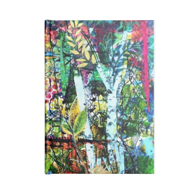 Sitting Pretty Original Collage Design Accessories Blank Journal Notebook by Wise Owl Artworks Artist Shop
