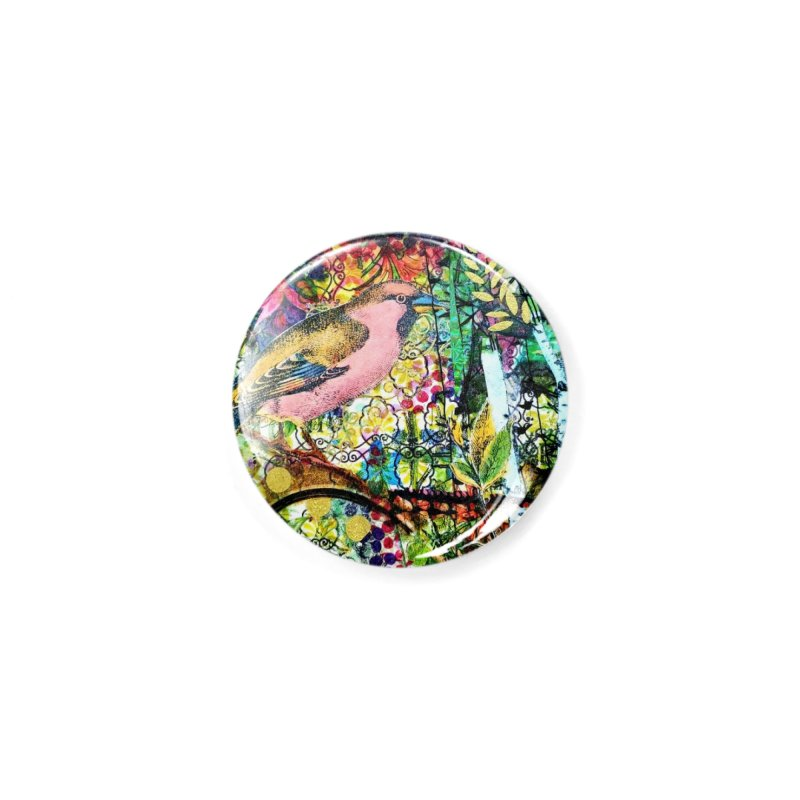 Sitting Pretty Original Collage Design Accessories Button by Wise Owl Artworks Artist Shop