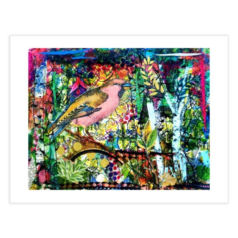 Sitting Pretty Original Collage Design Home Fine Art Print by Wise Owl Artworks Artist Shop