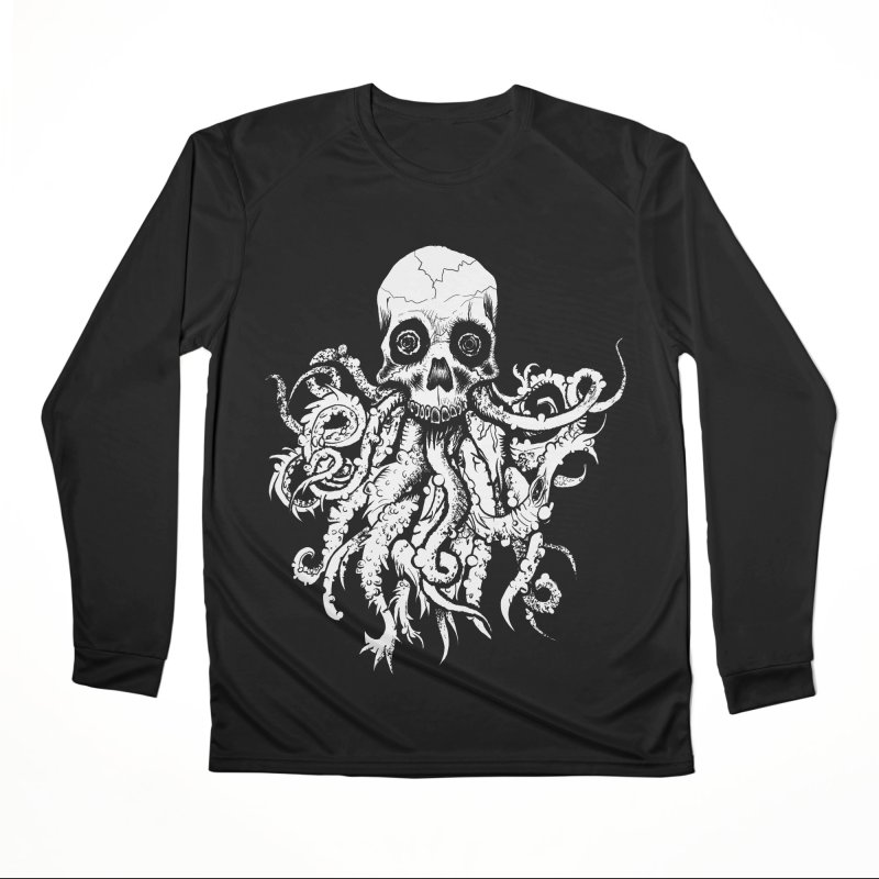 Tentaskull Women's Performance Unisex Longsleeve T-Shirt by WishEyeVeiw's Tshirt & Junk Emporium!