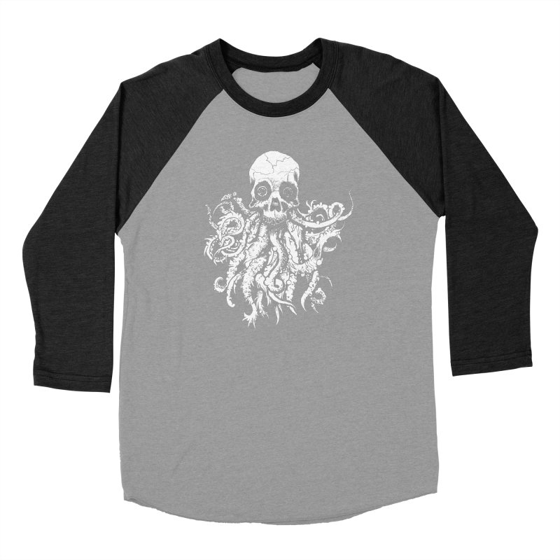 Tentaskull Men's Baseball Triblend Longsleeve T-Shirt by WishEyeVeiw's Tshirt & Junk Emporium!