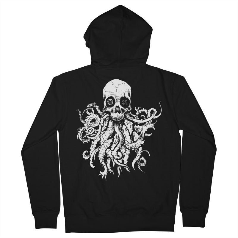 Tentaskull Women's French Terry Zip-Up Hoody by WishEyeVeiw's Tshirt & Junk Emporium!