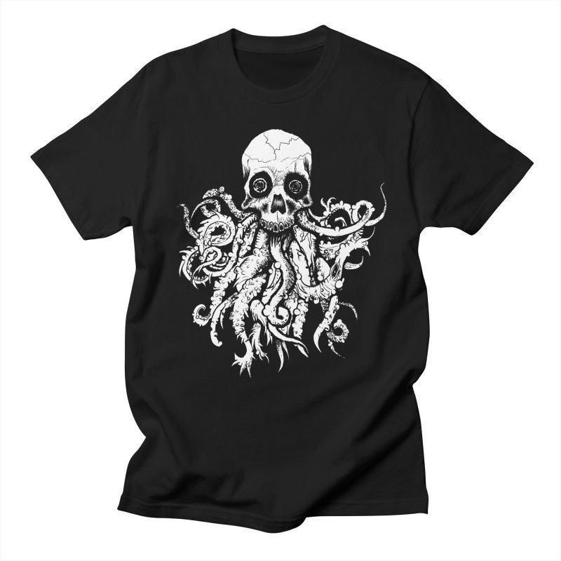 Tentaskull in Men's Regular T-Shirt Black by WishEyeVeiw's Tshirt & Junk Emporium!