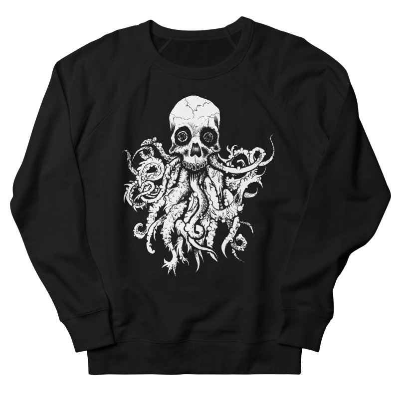 Tentaskull Men's French Terry Sweatshirt by WishEyeVeiw's Tshirt & Junk Emporium!