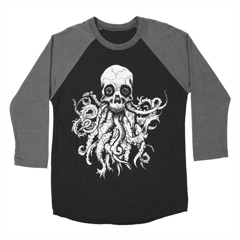 Tentaskull Women's Baseball Triblend Longsleeve T-Shirt by WishEyeVeiw's Tshirt & Junk Emporium!