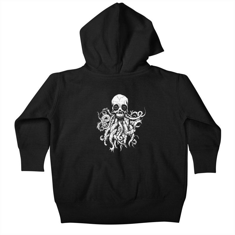 Tentaskull Kids Baby Zip-Up Hoody by WishEyeVeiw's Tshirt & Junk Emporium!