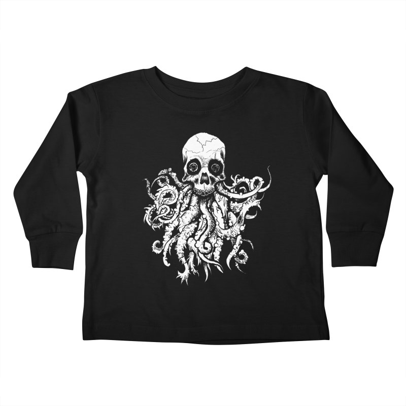 Tentaskull Kids Toddler Longsleeve T-Shirt by WishEyeVeiw's Tshirt & Junk Emporium!
