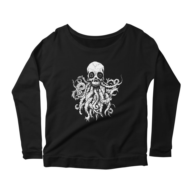 Tentaskull Women's Scoop Neck Longsleeve T-Shirt by WishEyeVeiw's Tshirt & Junk Emporium!