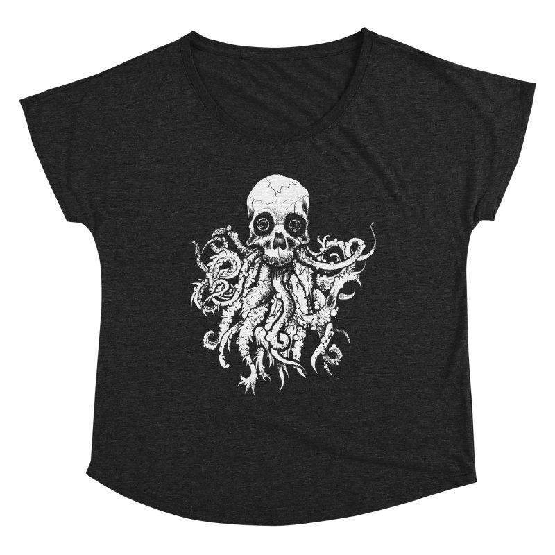Tentaskull Women's Dolman Scoop Neck by WishEyeVeiw's Tshirt & Junk Emporium!
