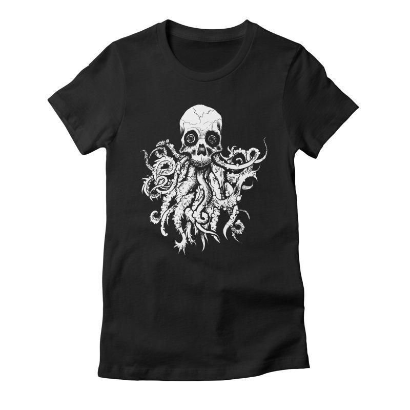 Tentaskull Women's Fitted T-Shirt by WishEyeVeiw's Tshirt & Junk Emporium!