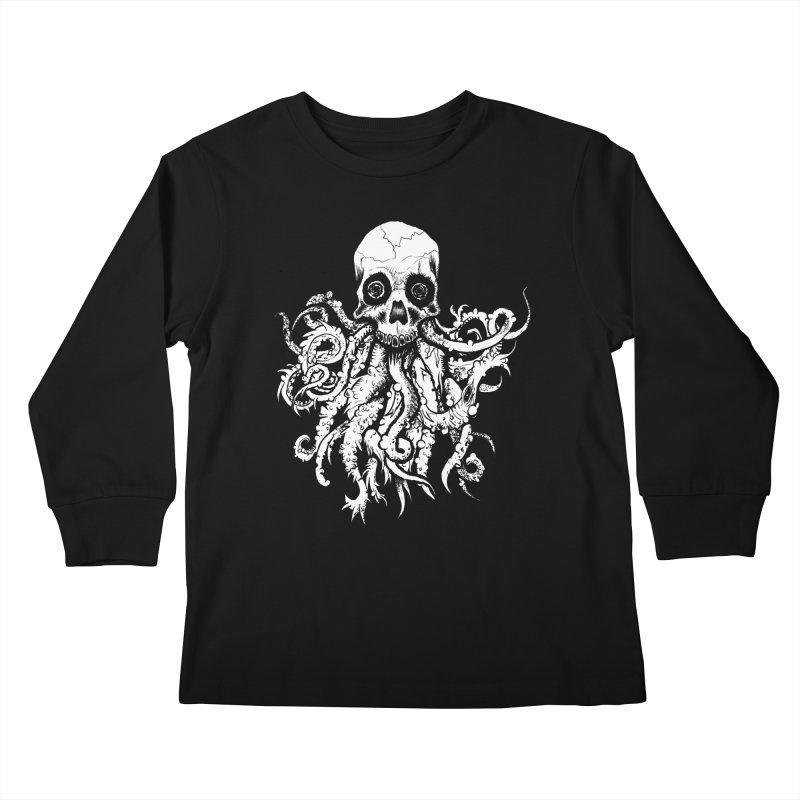 Tentaskull Kids Longsleeve T-Shirt by WishEyeVeiw's Tshirt & Junk Emporium!
