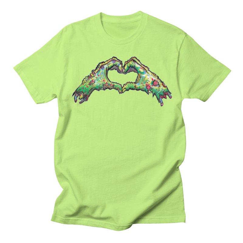 Zombie Heart Hands (dudes) Men's Regular T-Shirt by WishEyeVeiw's Tshirt & Junk Emporium!