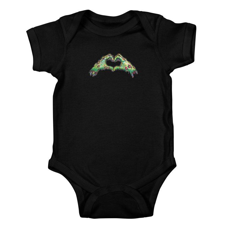 Zombie Heart Hands (dudes) Kids Baby Bodysuit by WishEyeVeiw's Tshirt & Junk Emporium!