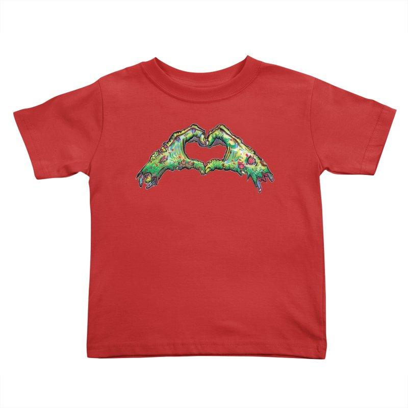 Zombie Heart Hands (dudes) Kids Toddler T-Shirt by WishEyeVeiw's Tshirt & Junk Emporium!