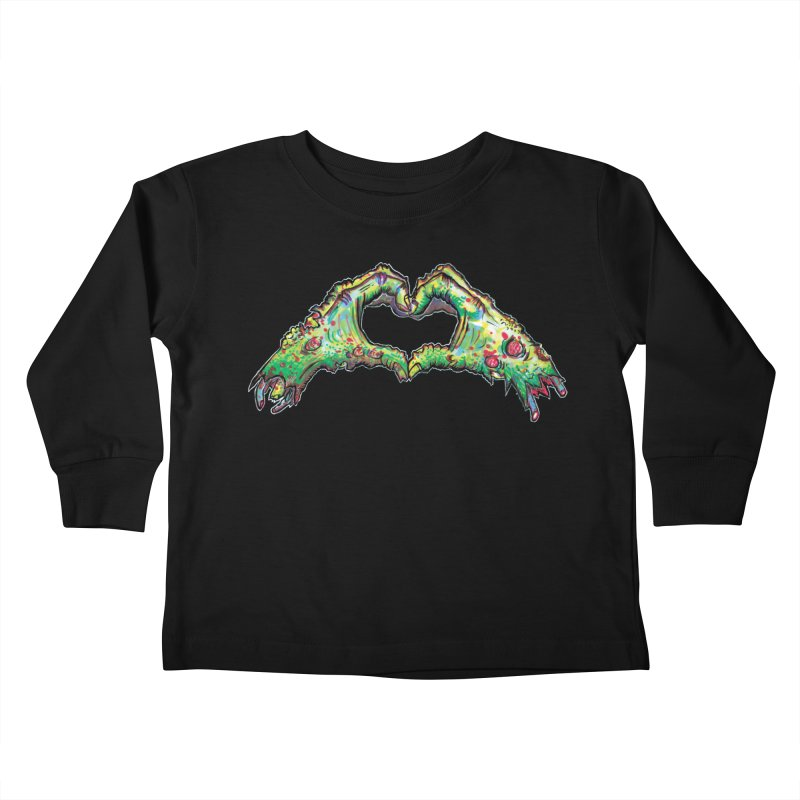 Zombie Heart Hands (dudes) Kids Toddler Longsleeve T-Shirt by WishEyeVeiw's Tshirt & Junk Emporium!