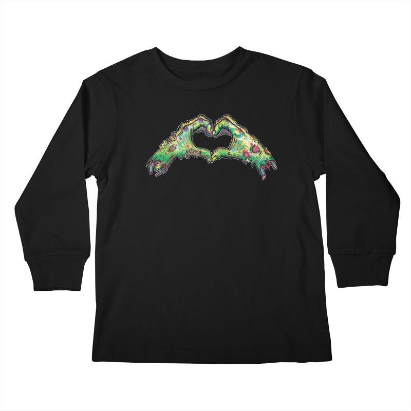 Zombie Heart Hands (dudes) Kids Longsleeve T-Shirt by wisheyeveiw's Artist Shop