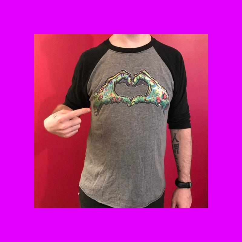 Zombie Heart Hands (dudes) Men's Pullover Hoody by WishEyeVeiw's Tshirt & Junk Emporium!