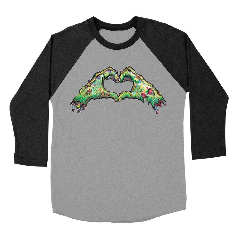 Zombie Hands ( womens) Women's Baseball Triblend Longsleeve T-Shirt by WishEyeVeiw's Tshirt & Junk Emporium!