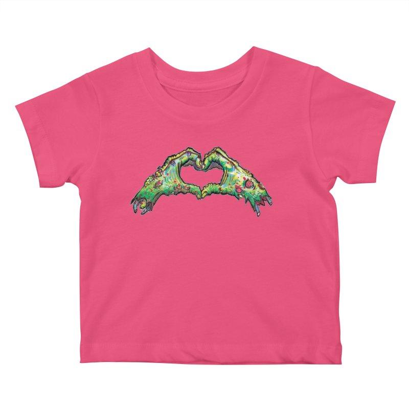 Zombie Hands ( womens) Kids Baby T-Shirt by WishEyeVeiw's Tshirt & Junk Emporium!
